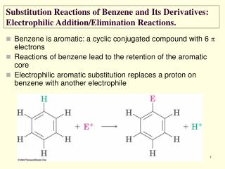 Benzene is aromatic: a cyclic conjugated compound with 6   electrons