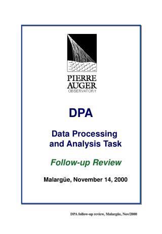 DPA follow-up review, Malargüe, Nov/2000