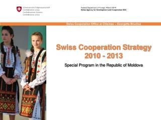 Swiss Cooperation Strategy 2010 - 2013