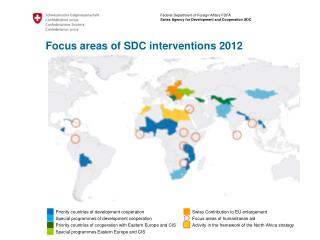Priority countries of development cooperation Special programmes of development cooperation