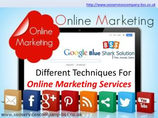 Different techniques for online marketing services: