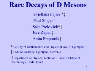Rare Decays of D Mesons