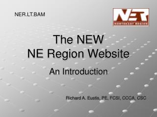 The NEW  NE Region Website