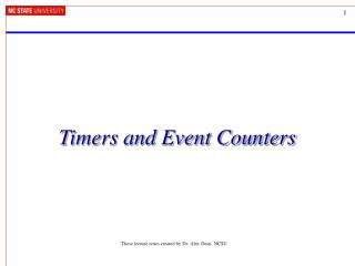Timers and Event Counters
