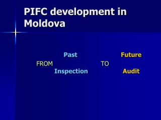 PIFC development in Moldova