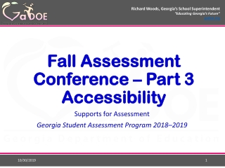 Accountability Tests and Assessment  of Students with Disabilities