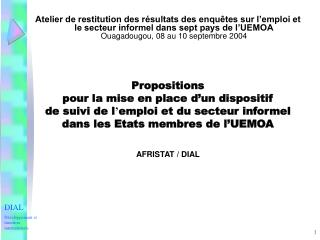 DIAL Développement et insertion internationale