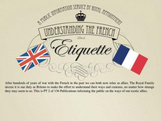 Etiquette English French Comparison Infographic