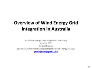 Overview of Wind Energy Grid Integration in Australia