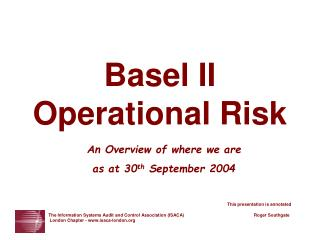 Basel II Operational Risk