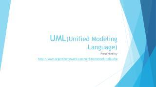 UML(Unified Modeling Language) Homework Help