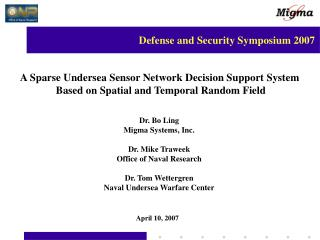 A Sparse Undersea Sensor Network Decision Support System
