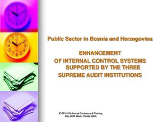 Public Sector in Bosnia and Herzegovina ENHANCEMENT