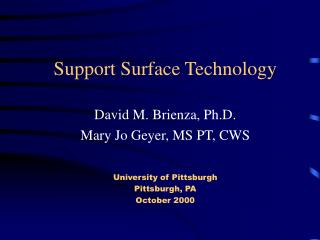 Support Surface Technology