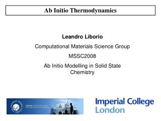 Ab Initio Thermodynamics