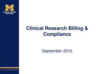 Clinical Research Billing & Compliance