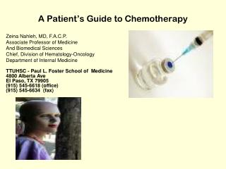 A Patient's Guide to Chemotherapy