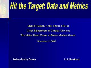 Hit the Target: Data and Metrics