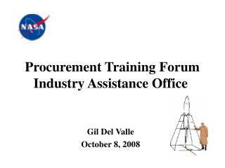 Procurement Training Forum Industry Assistance Office