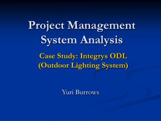 Project Management System Analysis