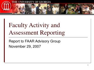 Faculty Activity and Assessment Reporting
