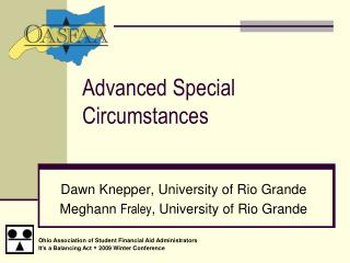 Advanced Special Circumstances