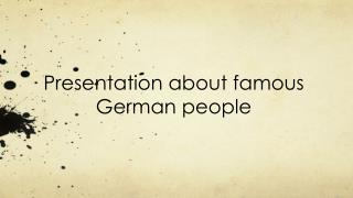 Presentation about famous German people