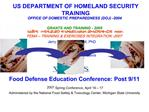 US DEPARTMENT OF HOMELAND SECURITY TRAINING