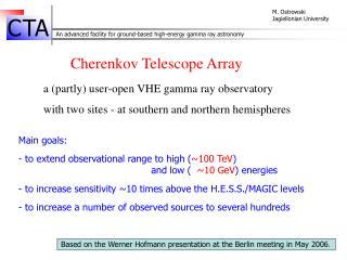 Cherenkov Telescope Array a (partly) user-open  VHE gamma ray observatory