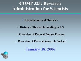 COMP 323: Research Administration for Scientists