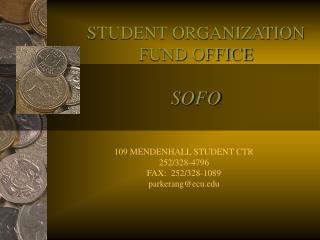 STUDENT ORGANIZATION FUND OFFICE SOFO
