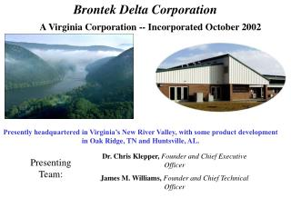 A Virginia Corporation -- Incorporated October 2002