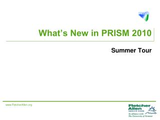 What's New in PRISM 2010
