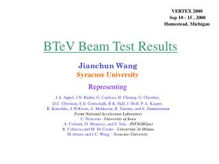 BTeV Beam Test Results