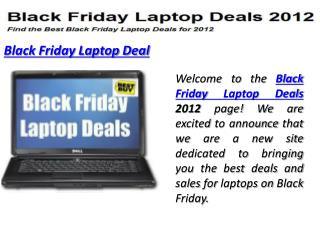 Black Friday Laptop Deals