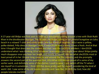 Up close with Shilpa Shetty