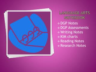 Language Arts Notebook