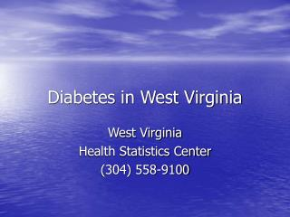 Diabetes in West Virginia