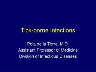 Tick-borne Infections