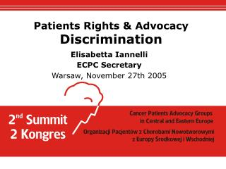 Patients Rights & Advocacy Discrimination