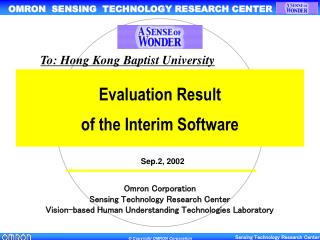 Evaluation Result  of the Interim Software