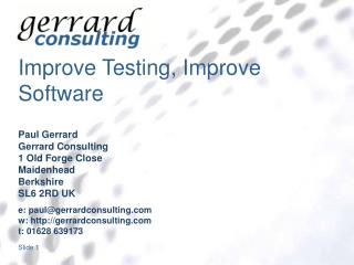 Improve Testing, Improve Software