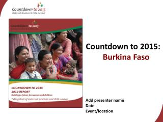 Countdown to 2015:  Burkina Faso