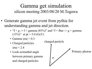 Gamma get simulation  silicon meeting 2003/08/20 M.Togawa