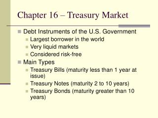Chapter 16   Treasury Market