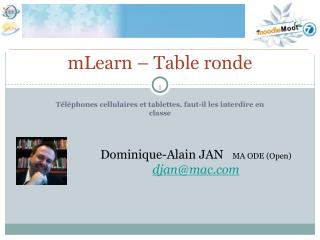 mLearn – Table ronde
