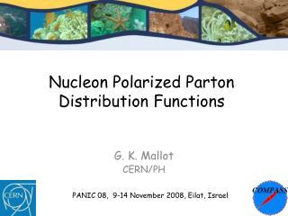 Nucleon Polarized Parton Distribution Functions