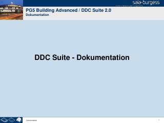 PG5 Building Advanced / DDC Suite 2.0 Dokumentation