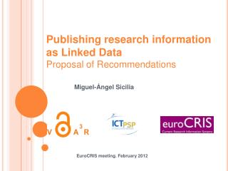 Publishing research information as Linked Data Proposal of Recommendations