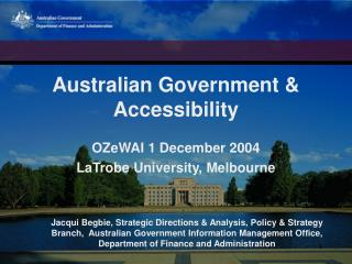 Australian Government & Accessibility